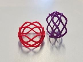 Nordic Ring  in Red Processed Versatile Plastic
