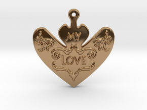 My Love My Life Necklace in Polished Brass