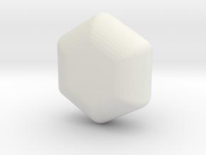 Cute candy HEXAGON in White Natural Versatile Plastic