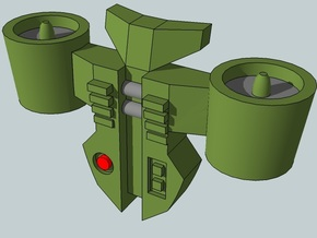 15mm Jetpacks, Turbofan Style in Smooth Fine Detail Plastic