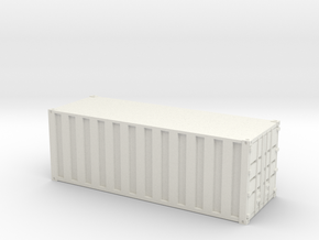 20 Foot Container - Ribbed - Custom Scale in White Strong & Flexible