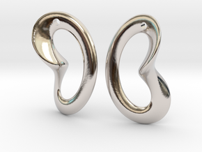 Coeurzoreil-earrings in Rhodium Plated Brass