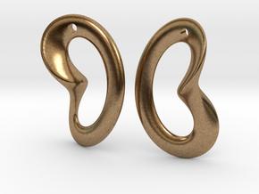 Coeurzoreil-earrings in Natural Brass