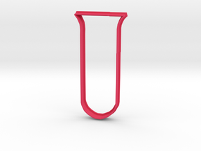 Test Tube cookie cutter in Pink Strong & Flexible Polished