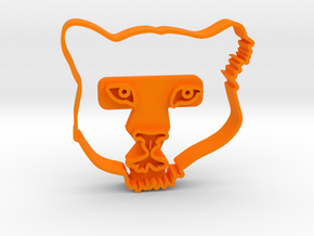 Amur Leopard in Orange Processed Versatile Plastic