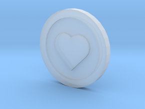 Love Coin in Smooth Fine Detail Plastic