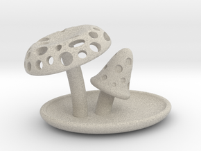 Mushrooms accessory tray in Natural Sandstone