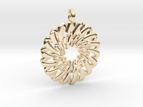 ENNEAGRAM FLOWER in 14k Gold Plated Brass