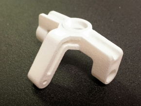 Ten4 Steering Block-Left in White Strong & Flexible Polished