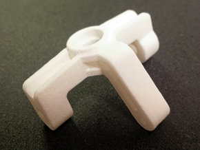 Ten4 Steering Block-Right in White Processed Versatile Plastic