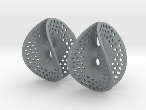 Small Perforated Chen-Gackstatter Thayer Earring in Polished Metallic Plastic