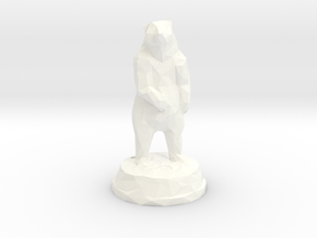 Standing Bear with Mount in White Processed Versatile Plastic