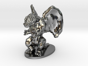 Dragon Miniature in Fine Detail Polished Silver
