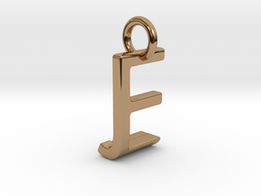 Two way letter pendant - EJ JE in Polished Brass