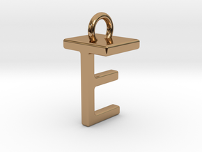 Two way letter pendant - ET TE in Polished Brass