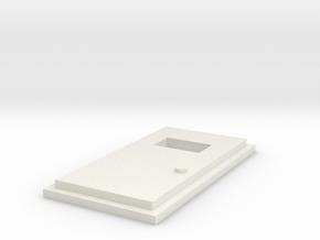 Personnel Door in White Natural Versatile Plastic