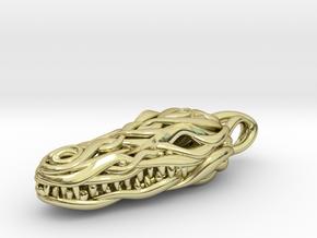 the Crocodile Head Pendant in 18k Gold