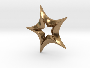 Star In A Star Spikey Round in Natural Brass