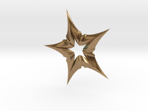 Star In A Star Distortion in Raw Brass