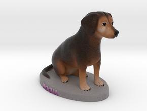 Custom Dog Figurine - Mocha in Full Color Sandstone