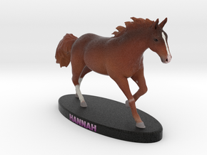 Custom Horse Figurine - Hannah in Full Color Sandstone