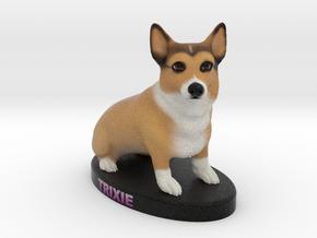Custom Dog Figurine - Trixie in Full Color Sandstone