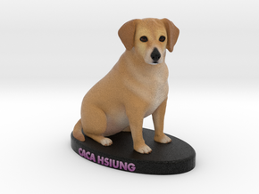 Custom Dog Figurine - Caca in Full Color Sandstone