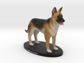 Custom Dog Figurine - Gang Bi in Full Color Sandstone