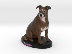 Custom Dog Figurine - Bobby in Full Color Sandstone