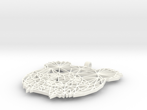 Bear Pendant 2mm in White Processed Versatile Plastic