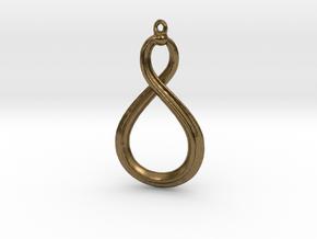 Mobius strip 3cm. in Natural Bronze