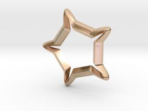 Star In A Star Sci-fi Smooth in 14k Rose Gold Plated Brass