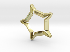 Star In A Star Sci-fi Smooth in 18k Gold