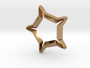 Star In A Star Sci-fi Smooth in Polished Brass