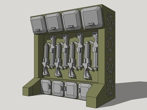 15mm Arms Rack/Locker in Smooth Fine Detail Plastic
