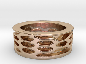 fabolous ring  in 14k Rose Gold Plated Brass