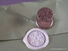 Snowflake Wax Seal in Polished Bronzed Silver Steel