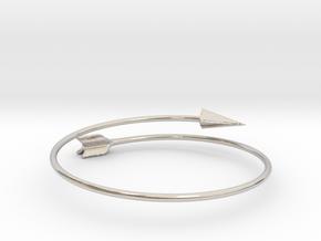 Arrow Bracelet in Rhodium Plated Brass