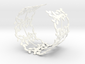Leaves Bracelet in White Processed Versatile Plastic