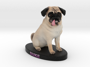 Custom Dog Figurine - Duke in Full Color Sandstone