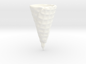 Waffle Ice Cream Cone in White Strong & Flexible Polished