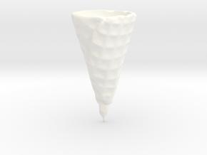 Waffle Ice Cream Cone in White Processed Versatile Plastic
