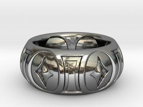 RINGER 2 SIZE 10 in Premium Silver