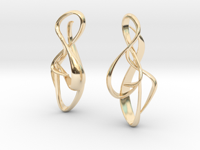 gold earrings : { i } 002 SMALL in 14k Gold Plated Brass
