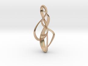 pendant : { i } 002 MEDIUM in 14k Rose Gold Plated Brass
