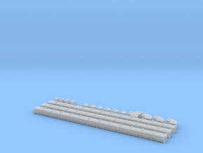 N Scale Air Duct Set 3x4x6 in Frosted Ultra Detail