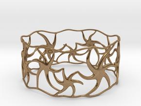 Star Bracelet in Natural Brass