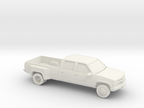 1/87 1994 Chevrolet Silverado Crew Dually in White Natural Versatile Plastic