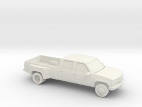 1/87 1994 Chevrolet Silverado Crew Dually in White Natural Versatile Plastic
