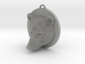 Bear Face Necklace in Metallic Plastic